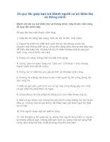 25 quy tắc giúp bạn trở thành người cư xử khéo léo và thông minh