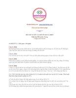 Đề thi tuyển vị trí tín dụng BIDV