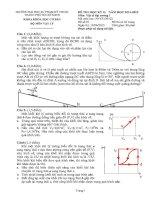 đề thi vật lý đại cương 1 (có đáp án)