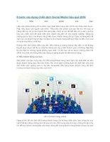 5 bước xây dựng chiến dịch social media hiệu quả 2016