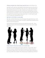 Những kỹ năng giao tiếp với khách hàng trong kinh doanh