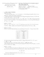 đề thi và đáp án môn phương pháp tính