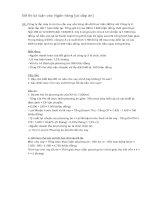 Đề thi tự luận vào ngân hàng (có đáp án)