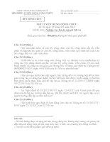 đề thi công chức ngành nội vụ bản gốc
