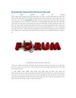 Bí quyết bán hàng online trên forum hiệu quả