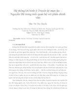 Hệ thống lời bình ở Truyền kỳ mạn lục – Nguyễn Dữ trong mối quan hệ với phần chính văn