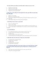 51 câu hỏi trắc nghiệm vào ngân hàng (có đáp án)