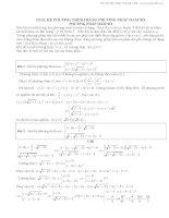 giải hệ phương trình bằng phương pháp hàm số