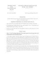 Nghị quyết 01/2016/NQ-HĐTP hướng dẫn áp dụng quy định tại khoản 3 điều 7 Bộ Luật hình sự 100/2015/QH13