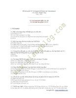 Đề thi tín dụng và kế toán vào vietcombank
