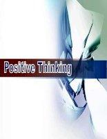 Bài giảng Kỹ năng tư duy tích cực part 3