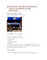 Đề thi chuyên viên hỗ trợ tín dụng  chuyên viên QHKH của MB