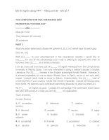 Đề thi tuyển dụng FPT – tiếng anh b – đề số 1