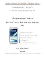 Quảng bá hình ảnh điện thoại galaxy note II tại thị trường việt nam