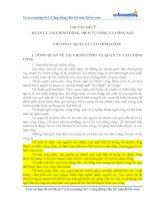 CHUYÊN đề QUẢN lý tài CHÍNH CÔNG, DỊCH vụ CÔNG và CÔNG sản