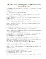 CÂU hỏi KIỂM TRA TRẮC NGHIỆM NHÂN VIÊN tín DỤNG NGÂN HÀNG SACOMBANK 2010