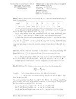 đề thi và đáp án môn toán ứng dụng