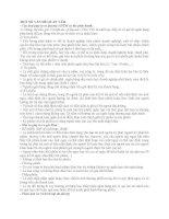 Một số câu hỏi về NGHIỆP vụ NGÂN HÀNG