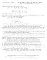 Đề thi tuyển sinh đào tạo trình độ thạc sĩ môn toán kinh tế