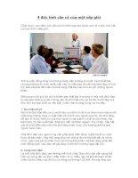 4 đức tính cần có của một sếp giỏi