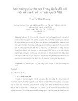 Ảnh hưởng của văn hóa Trung Quốc đối với một số truyện cổ tích của người Việt