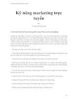 Kỹ năng marketing trực tuyến