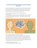10 cách ứng xử thông minh trong các tình huống giao tiếp