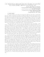 CÁC NHÂN TỐ TÁC ĐỘNG ĐẾN THU HÚT VỐN ĐẦU TƯ VÀO LĨNH VỰC CÔNG NGHIỆP - DỊCH VỤ TẠI TỈNH PHÚ YÊN