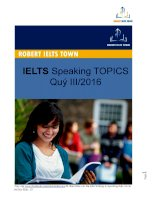 IELTS speaking TOPICS QUÝ III 2016