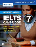 Suggested answer to task 2 essays ( Cambridge IELTS 7 )