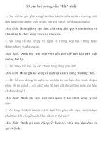 10 câu hỏi phỏng vấn ăn điểm