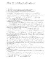 Đề thi thử vật lý lớp 10   trắc nghiệm