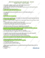Bộ đề thi tuyển dụng nhân viên kế toán ngân hàng  đề 10