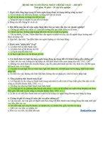 Bộ đề thi tuyển dụng nhân viên kế toán ngân hàng – đề 9