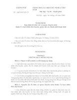 nghị định số 44 về tổ chức các cơ quan chuyên môn cấp huyện, quận, thị xã thuộc tỉnh năm 2008