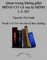 Quan trọng không phải mình có gì mà là mình là ai tác giả Nguyễn Thị Oanh