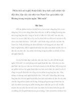 Phân tích nét nghệ thuật khắc hoạ tính cách nhân vật độc đáo của nhà văn Nam Cao qua nhân vật Hoàng trong truyện ngắn Đôi mắt