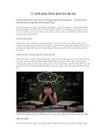 7 cách giúp teen giải tỏa áp lực
