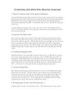 12 phương cách đánh thức động lực trong bạn