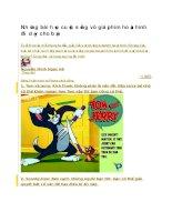 Những bài học cuộc sống vô giá phim hoạt hình đã dạy cho bạn