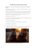 30 điều bạn nên làm ngay và luôn