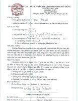 đề thi tuyển sinh vào lớp 10 môn toán tỉnh Bắc Giang