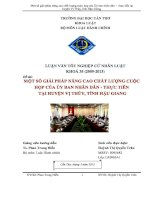 Một số giải pháp nâng cao chất lượng cuộc họp UBND thực tiễn huyện vị thủy hậu giang