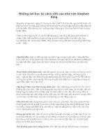 Những bài học từ cách viết của nhà văn stephen king