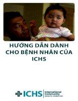 Hướng dẫn của bệnh viện ICHS  CHO BỆNH NHÂN