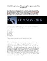 Chìa khóa giúp bạn thành công trong các cuộc thảo luận nhóm
