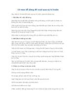 10 mẹo dễ dàng để vượt qua sự trì hoãn