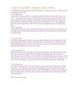 5 điều PHẢI BIẾT TRONG CUỘC SỐNG