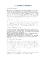 7 bài học từ cây bút CHÌ