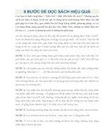 8 bước để đọc SÁCH HIỆU QUẢ